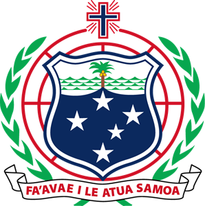 Coat of arms of Samoa Logo Vector