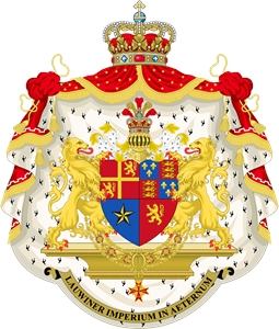 Coat of Arms of the Lauwiner Empire and King Jonas Logo Vector