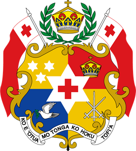 Coat of arms of Tonga Logo Vector