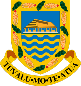 Coat of arms of Tuvalu Logo Vector