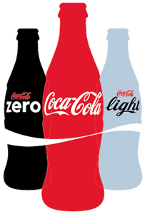 Coca-Cola Zero, Light Logo Vector