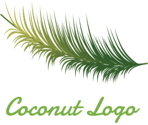 Coconut Tree Logo Vector