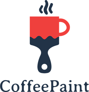 coffee and paint design Logo Vector