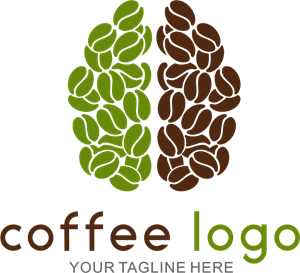 Coffee brain Logo Vector