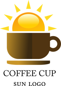 Coffee Shop Sun Food Logo Vector