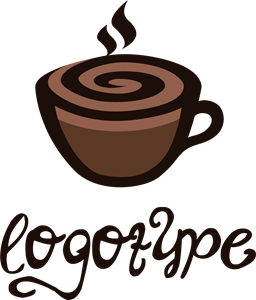 Coffee Time Cafe Logo Vector