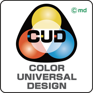 Color Universal Design (CUD) Logo Vector