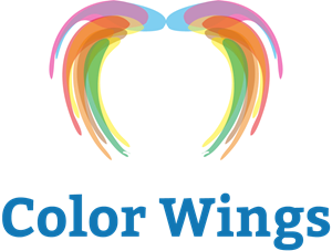 Color Wings Logo Vector