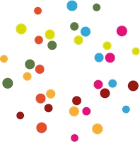 COLORED DOTS Logo Vector
