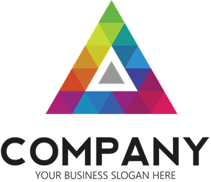 Colored Triangle Logo Vector