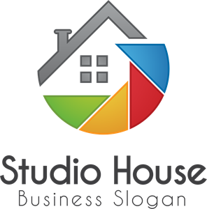 Colorful abstract house Logo Vector