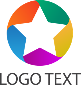 Colorful Abstract Star Logo Vector