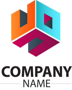 Colorful Cube Company Shape Logo Vector