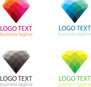 Colorful Diamond Shape Logo Vector