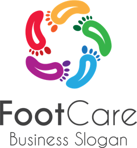 Colorful foot prints Logo Vector