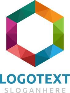 Colorful hexagon Logo Vector