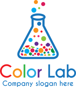 Colorful Lab Logo Vector