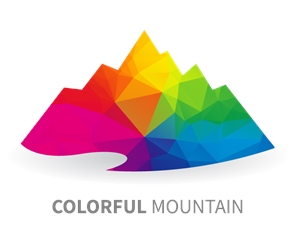 Colorful Mountain Logo Vector