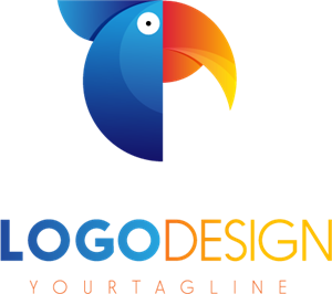 Colorful Parrot Logo Vector