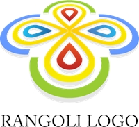 Colorful Rangoli Entertainment Logo Vector