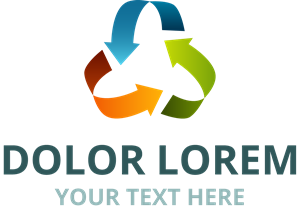 Colorful Recycle Logo Vector