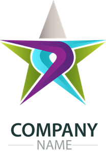 colorful star company Logo Vector
