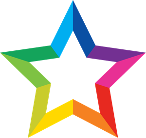 Colorful Star Logo Vector