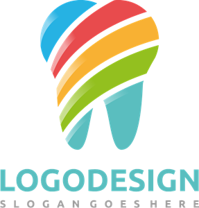 colorful tooth Logo Vector