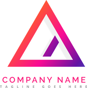 colorful triangle F Logo Vector