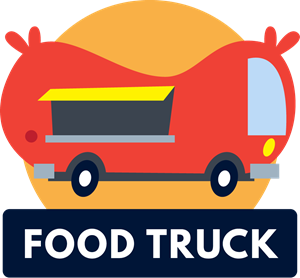Colorful variety of fun food truck Logo Vector