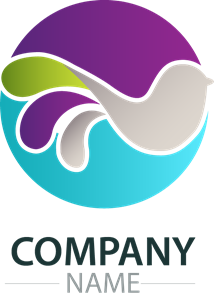 Colorful wave bird company Logo Vector