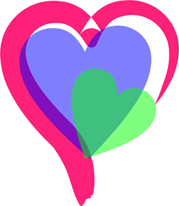 Colors Heart Logo Vector