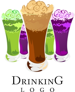 Colour Drink Food Logo Vector