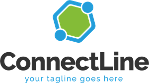 Coloured Connect Line Logo Vector