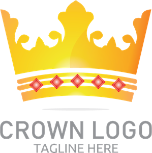 Coloured Crown Logo Vector