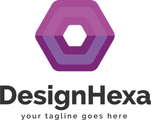 Coloured Design Hexa Logo Vector