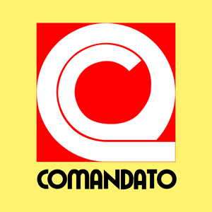 Comandato antiguo vertical Logo Vector