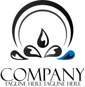 Company creative black and white Logo Vector