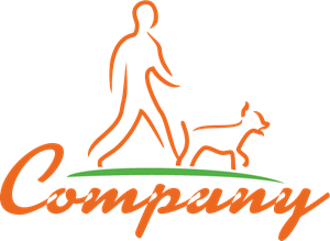 Company Dog Walking Logo Vector