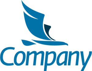 Company Eagle in Flight Logo Vector