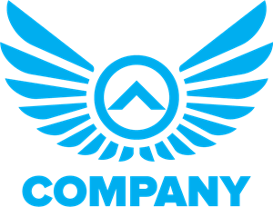Company Eagle Wings Logo Vector