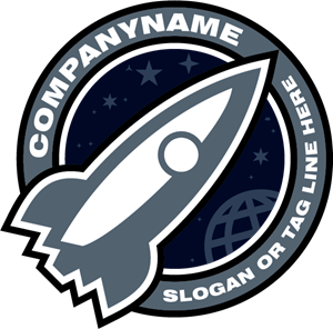 Company Rocket Ship Logo Vector