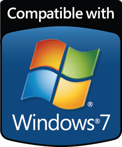 Compatible with Windows 7 Logo Vector