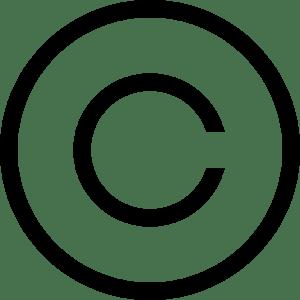 Copyright Symbol Logo Vector