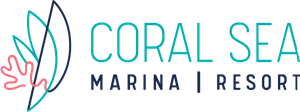 Coral Sea Marina Resort Logo Vector