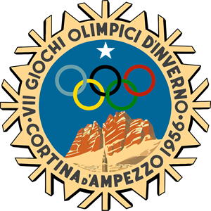 Cortina d'Ampezzo 1956, VII Winter Olympic Games Logo Vector