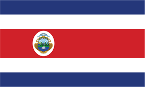 Costa Rica Flag Logo Vector