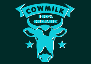cow milk organic Logo Vector