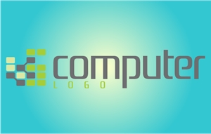 Creative Chip Shape IT Logo Vector