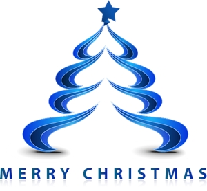 creative christmas tree Logo Vector